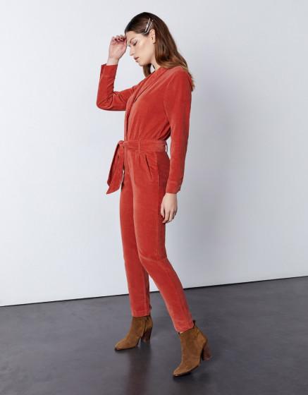 Combinaison Jenna Velvet - MARSALA