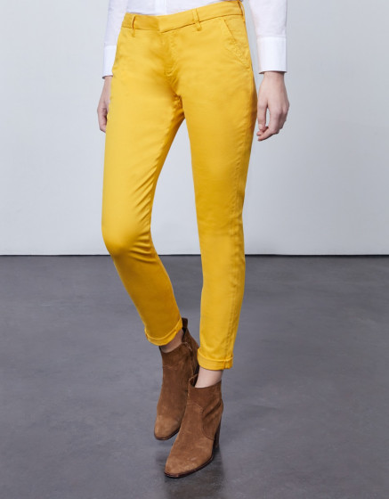 Chino trousers Sandy 2 Basic - LIMONCELLO