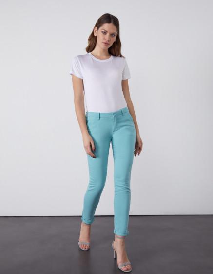 Pantalon chino Sandy 2 Basic - MISTY BLUE