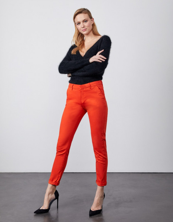 Pantalon chino Sandy 2 Basic - ORANGE PEPPER