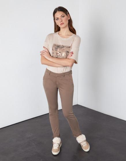 Pantalon chino Sandy 2 Basic - DARK TAUPE