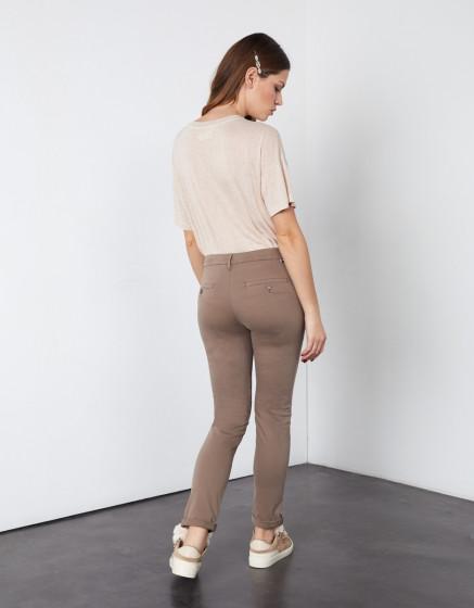 Chino trousers Sandy 2 Basic - DARK TAUPE