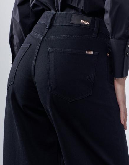 Jean wide Poppy - DNM BLACK