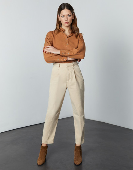 Chino high waist Ambre - LIGHT SAND