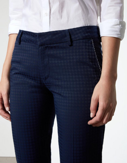 Pantalon loose cigarette Pura - DARK NAVY