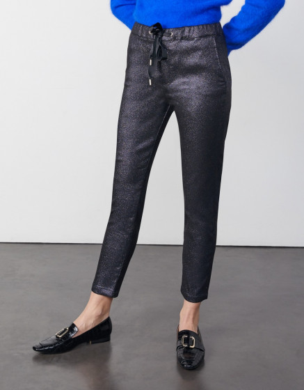 Carrot trousers Faustine - BLUE SPARKLE