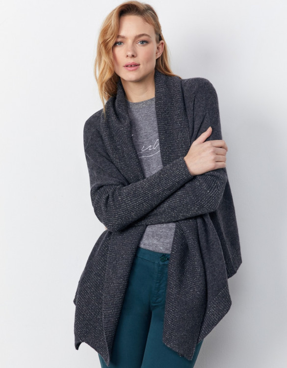 Cardigan Prunelle - CARBONE