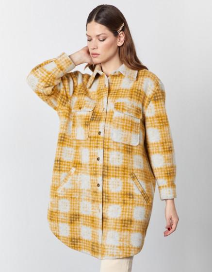 Coat Mana - MUSTARD PLAID