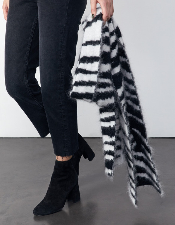 Scarf Misha - BLACK/WHITE