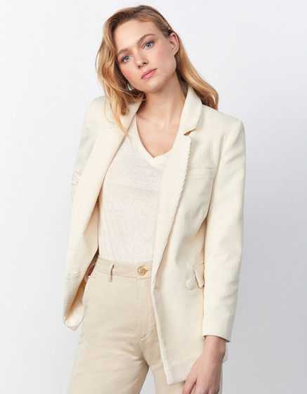 Blazer Barbara Velvet - BUTTERCREAM