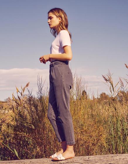 Cigarette high waist jeans Ava - DNM GREY