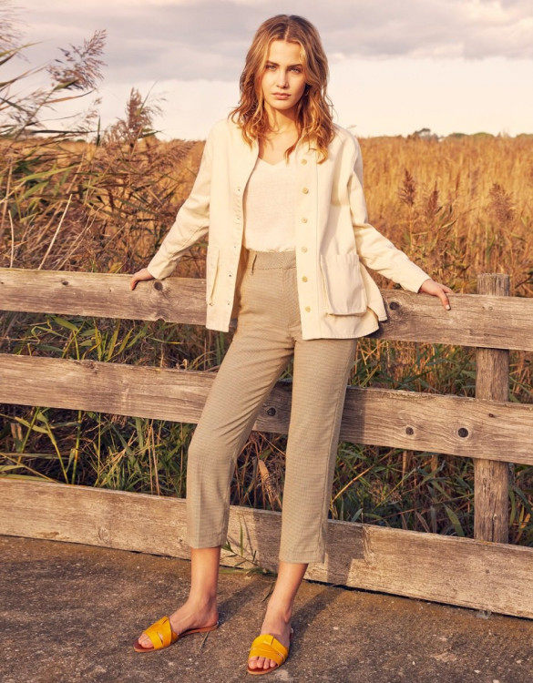 Cigarette trousers Liv Straight - HONEYCOMB