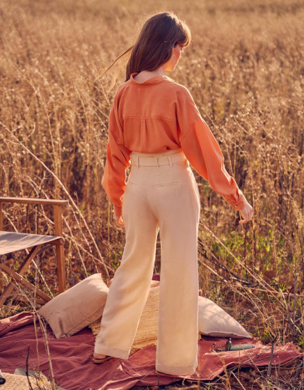 Pantalon wide Gaby Linen - SHELL