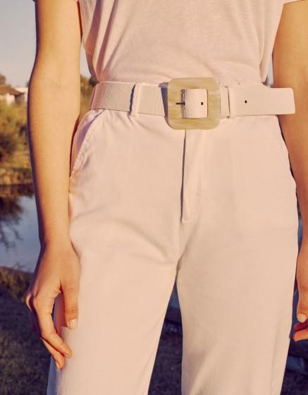 Belt Alexie - OFF-WHITE CROCO