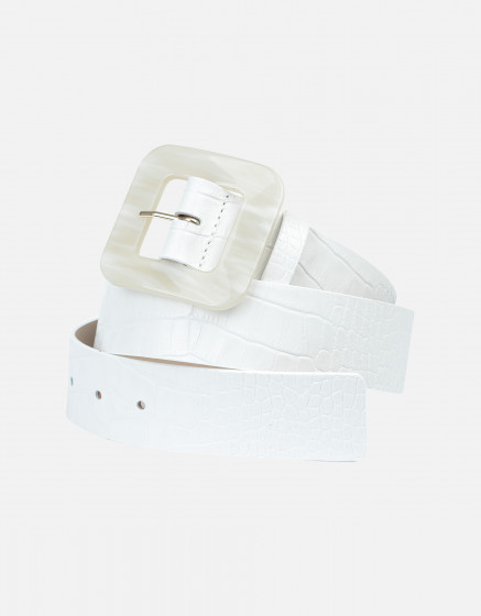 Ceinture Alexie - OFF-WHITE CROCO