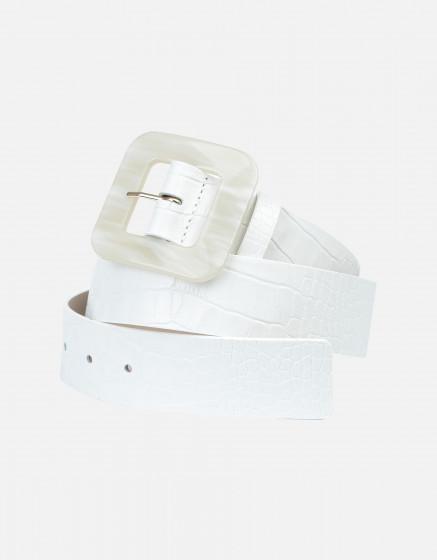 Ceinture Alexie - OFF-WHITE CROCO