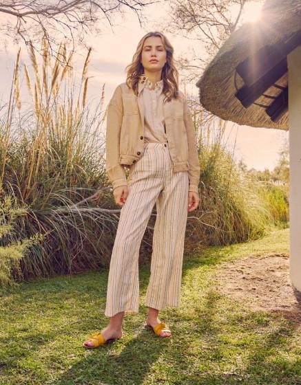 Pantalon wide Ellie Fancy - CRAFTED STRIPED