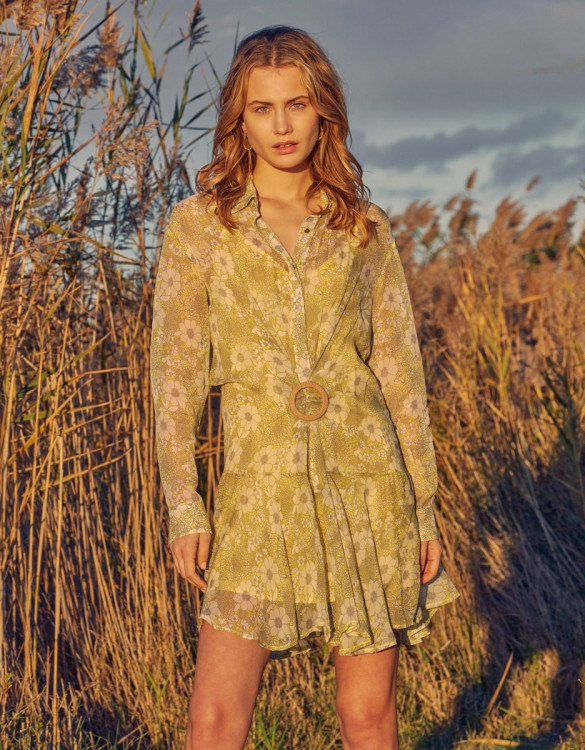 Dress Dahlia - YELLOW FLORAL