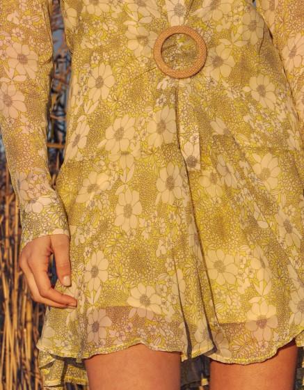 Robe Dahlia - YELLOW FLORAL