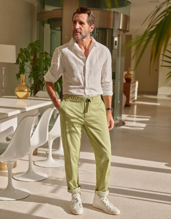 Pantalon chino straight Vincent - LIGHT TEA