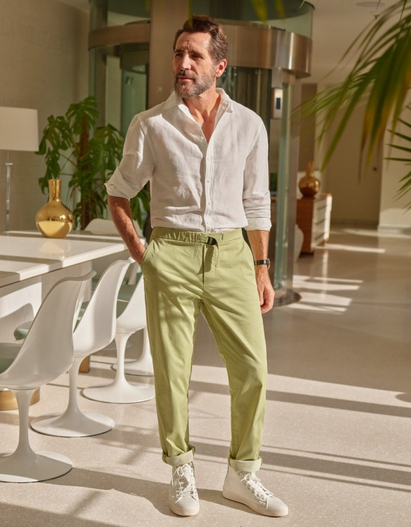 Straight chino trousers Vincent - LIGHT TEA
