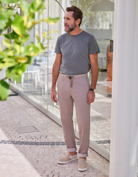 Straight chino trousers Vincent - TAUPE