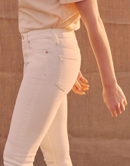 Jean taille haute Arnel - DNM OFF WHITE