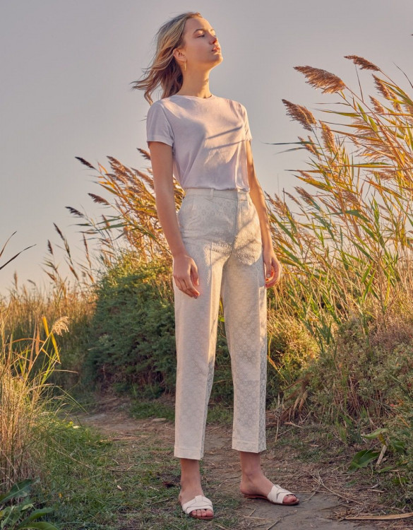 Straight cigarette trousers Lary Fancy - OFF-WHITE DAISY
