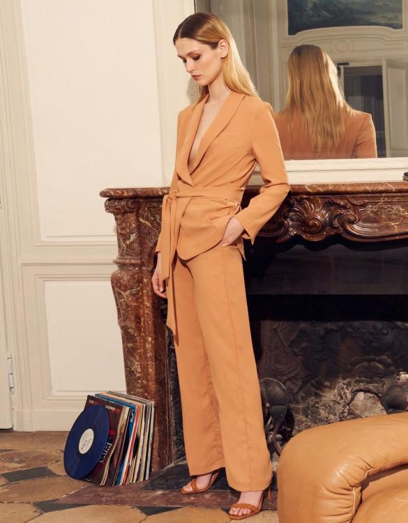Wide trousers Lelio - SANDSTONE