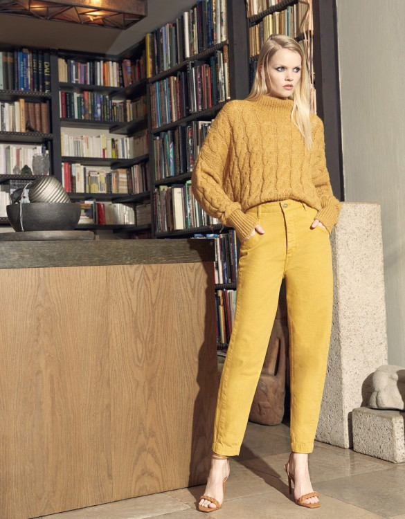 High waist trousers Nicola Color - HARVEST GOLD