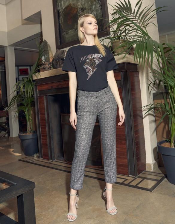 Cigarette trousers Liv Fancy - RETRO CERAMIC