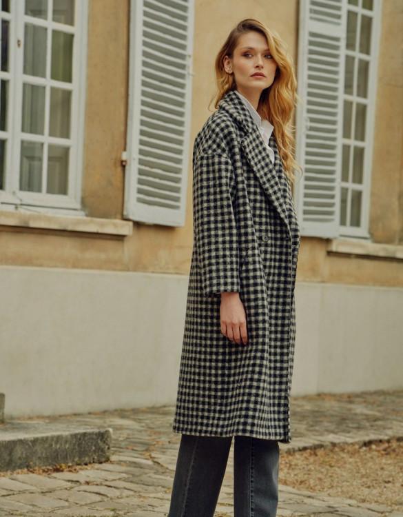 Coat Madelyn - BLACK TARTAN
