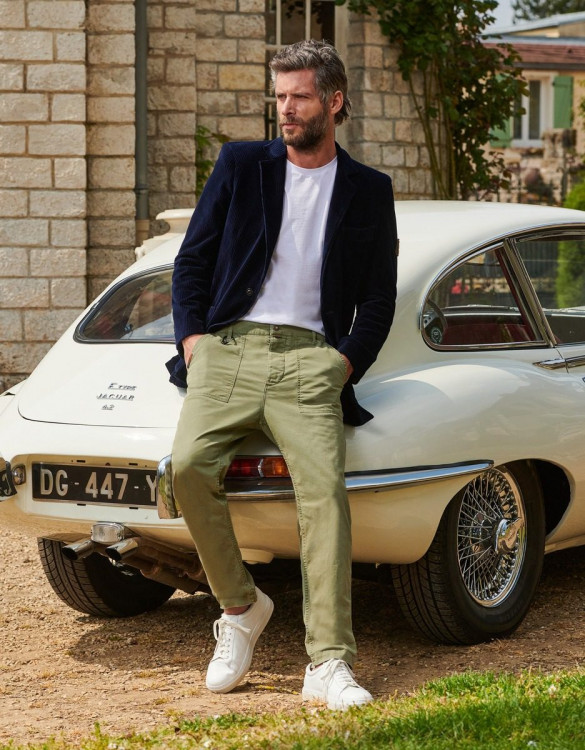 Cargo Straight Cropped Andrew - LIGHT MILITAR