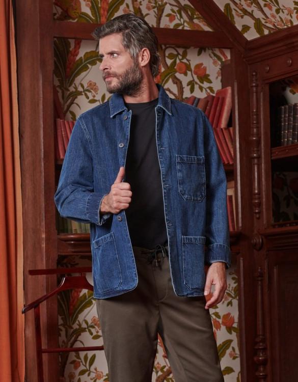 Worker jacket Patricio - INDIGO WASH