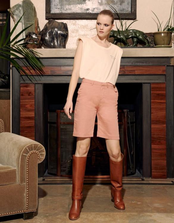 Bermuda shorts Suzon Lyocell - ROSE TAN
