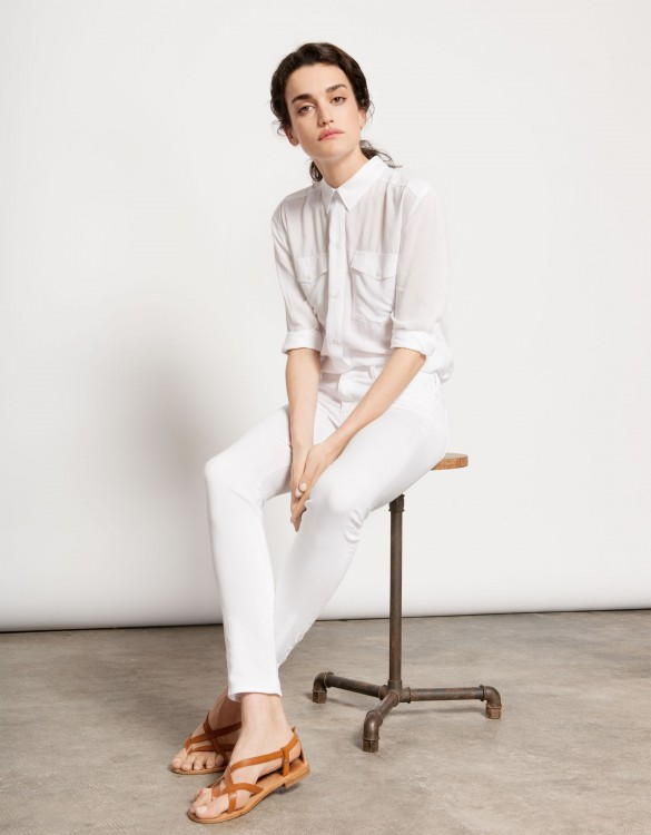 Colored skinny Trousers Nelly - WHITE