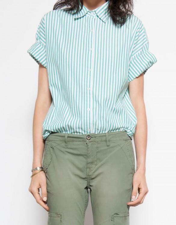 Shirt Cleo - STRIPES GREEN
