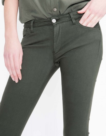 Colored skinny trousers Nelly - VERT BOUTEILLE
