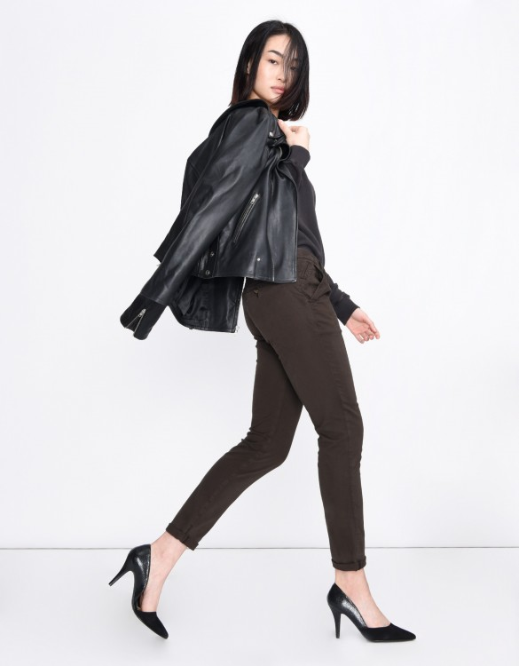 Pantalon chino Sandy Basic - BROWN