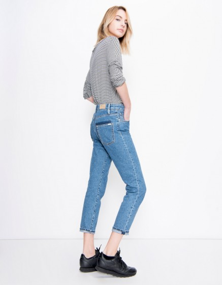 Jean Mom Lake - DENIM BLUE
