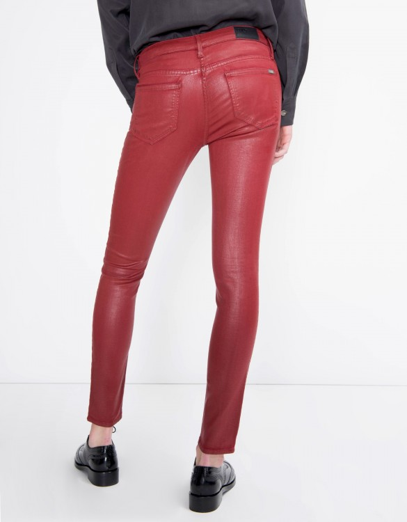 Skinny enduction trousers Nelly - CARMIN