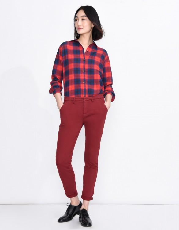 Pantalon chino Sandy Basic - CARMIN