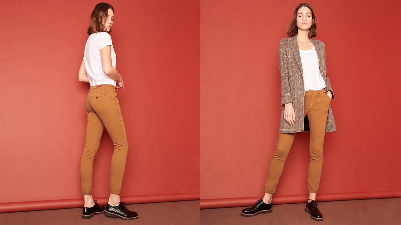 Chino Trousers Sandy  - CHAMOIS