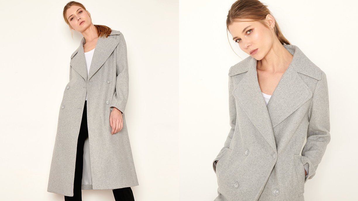 Manteau Mael Color - GRIS CHINE FONCE