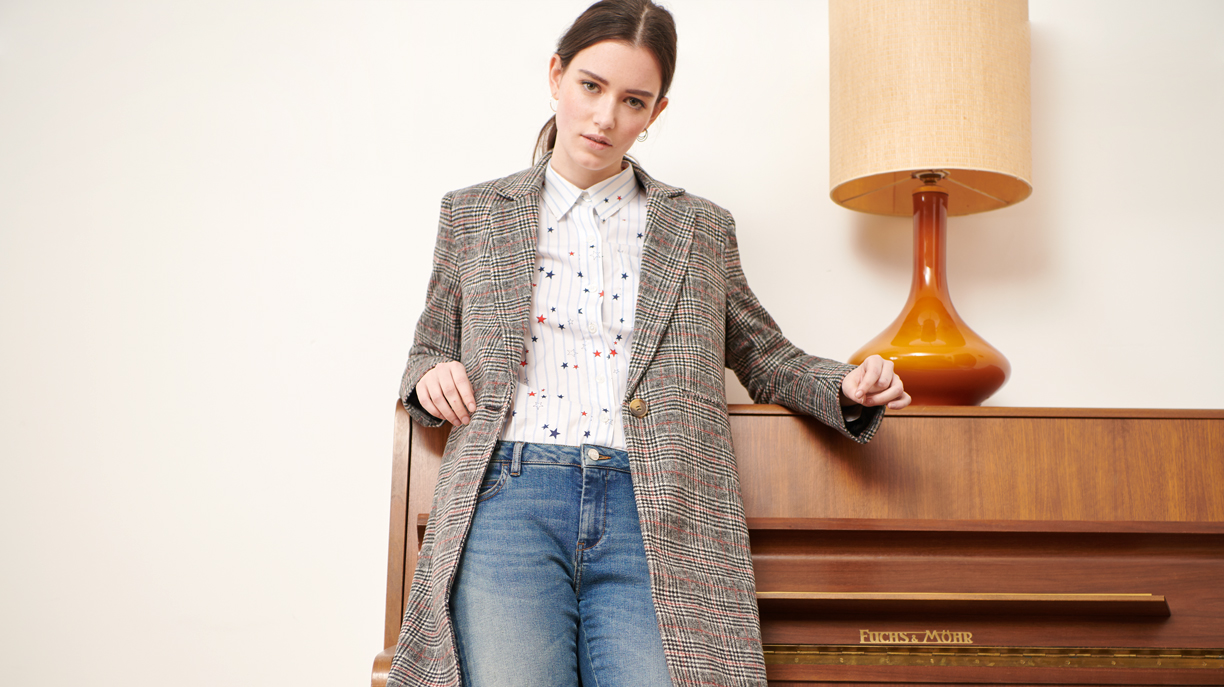 Manteau Marco Fancy - GREY TARTAN